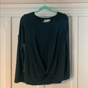 Amour Vert long sleeve modal front twist top XS
